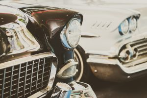 Vintage car and luxury
